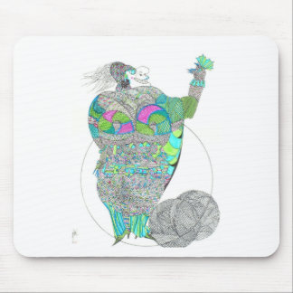 Fat Lady With A Fan Mouse Pad