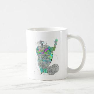 Fat Lady With A Fan Classic White Coffee Mug
