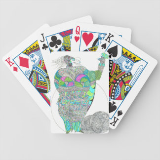 Fat Lady With A Fan Bicycle Playing Cards