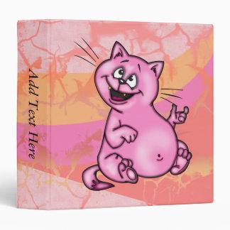 Fat Little Cartoon Cat Avery Binder