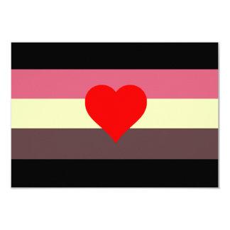 Fat Lovers Pride Flag 3.5x5 Paper Invitation Card