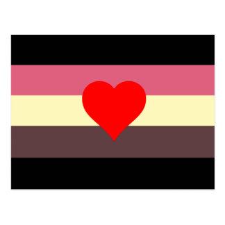 Fat Lovers Pride Flag Postcard