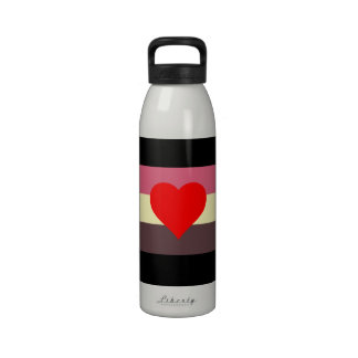Fat Lovers Pride Flag Reusable Water Bottle