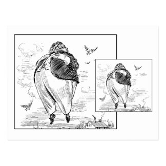 Fat Man Floating Post Card