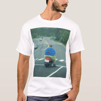 Fat man on a moped T-Shirt