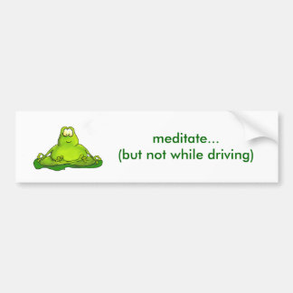 Fat meditating frog bumper sticker