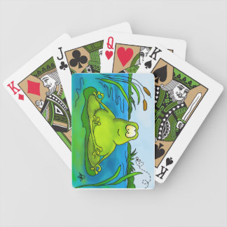 Fat Meditating Frog Playing Cards