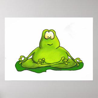 Fat Meditating Frog Poster