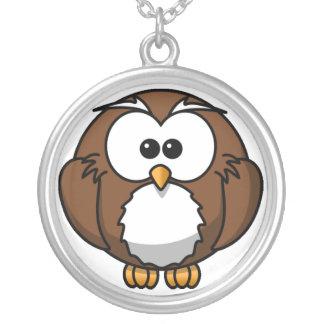 Fat Owl Cartoon Necklace