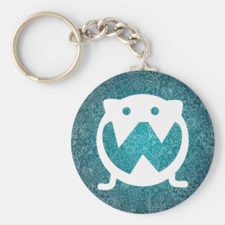 Fat Owls Icon Basic Round Button Keychain