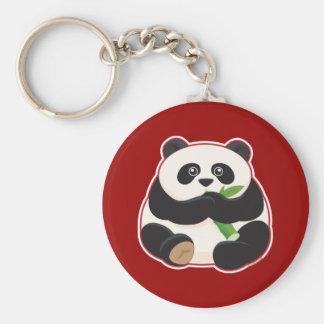 Fat Panda Basic Round Button Keychain