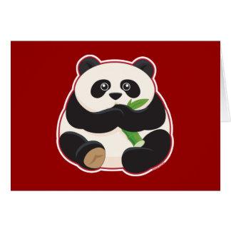 Fat Panda Greeting Card