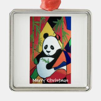 Fat Panda Metal Ornament