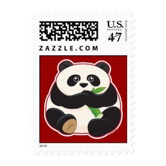 Fat Panda Postage Stamp