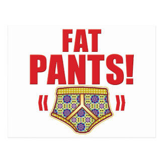 Fat pants Flowery Post Card