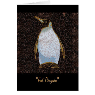Fat Penguin Greeting Card