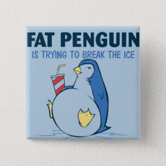 Fat Penguin Ice Breaker Flair Pinback Button