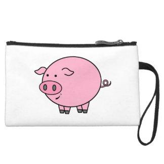Fat Pig Suede Wristlet