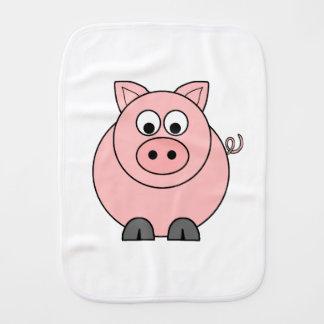 Fat Pink Pig Burp Cloth