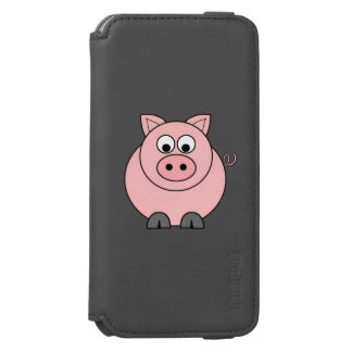 Fat Pink Pig iPhone 6/6s Wallet Case