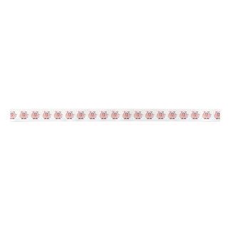 Fat Pink Pig Satin Ribbon