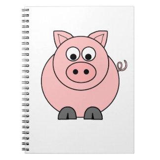 Fat Pink Pig Spiral Notebook