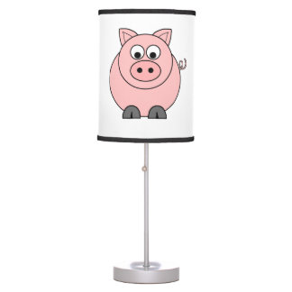 Fat Pink Pig Table Lamp