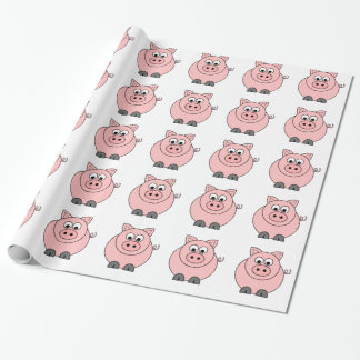 Fat Pink Pig Wrapping Paper