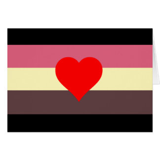 FAT PRIDE FLAG STATIONERY NOTE CARD