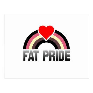 FAT PRIDE RAINBOW POSTCARD