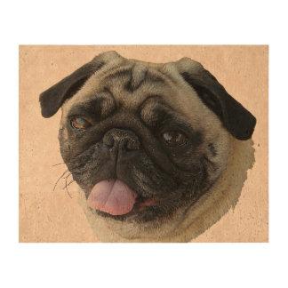 Fat Pug Portrait Cork Paper