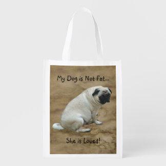 Fat Pug Reusable Grocery Bag