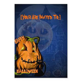 Fat Pumpkin and Black Kitty invitation_55x425_v... Card