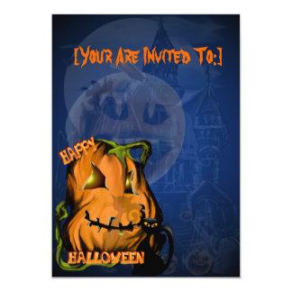 Fat Pumpkin and Black Kitty invitation_5x7_vert... Card