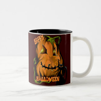 Fat Pumpkin and Black Kitty Mugs