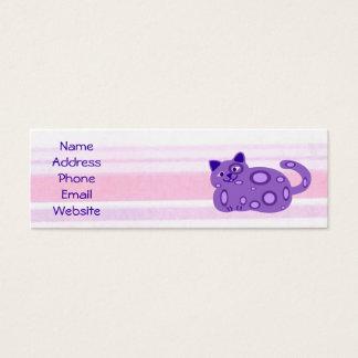 Fat Purple cat profile cards