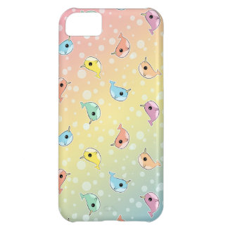 Fat Rainbow Narwhal Pattern iPhone 5C Case