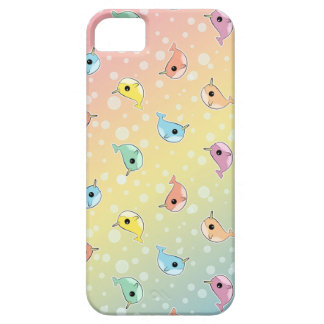 Fat Rainbow Narwhal Pattern iPhone SE/5/5s Case