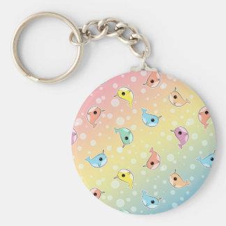 Fat Rainbow Narwhal Pattern Keychain