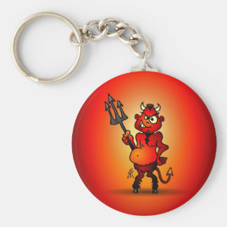 Fat red devil keychain