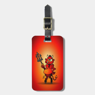 Fat red devil luggage tag