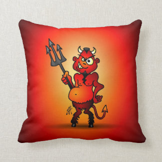 Fat red devil pillows