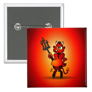 Fat red devil pinback button