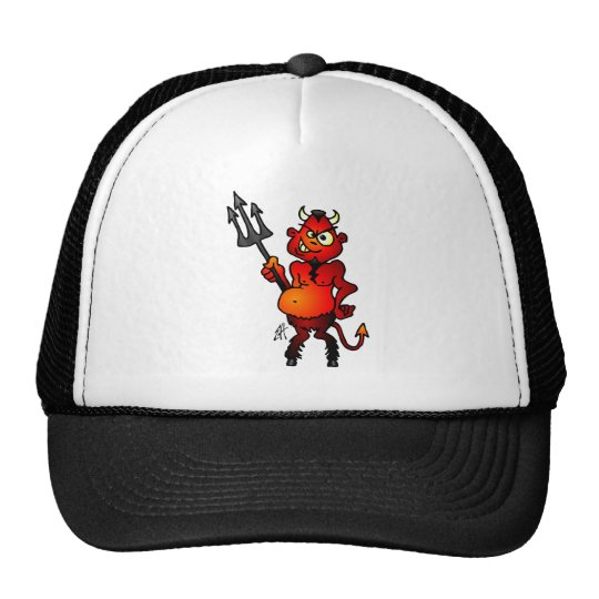 Fat red devil trucker hat