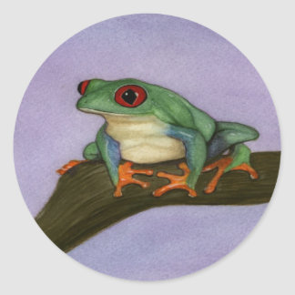 Fat Red Eyed Tree Frog Stickers
