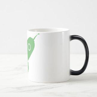 Fat Retro Rocket Ship Green Coffee Mug