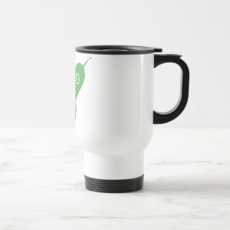 Fat Retro Rocket Ship Green Mug