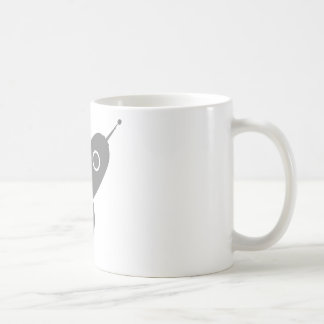 Fat Retro Rocket Ship Grey Gray Coffee Mug