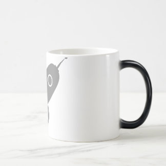Fat Retro Rocket Ship Grey Gray Magic Mug