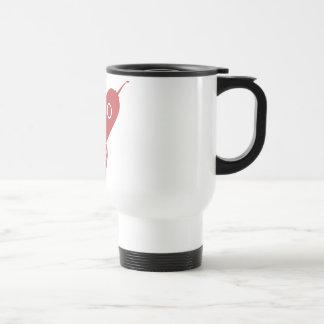 Fat Retro Rocket Ship Red Coffee Mugs